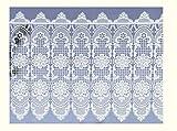 Unbekannt Scheibengardine Plauener Spitze Landhausgardine Blume 43 x 100 cm weiß aus Spitze
