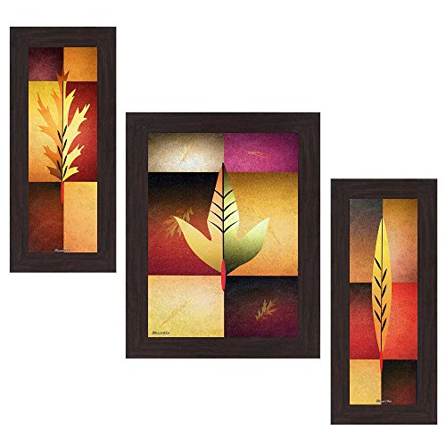 Wens Modern MDF Wall Art (14.5 cm x 29 cm x 1 cm, Set of 3, WSP-4181)