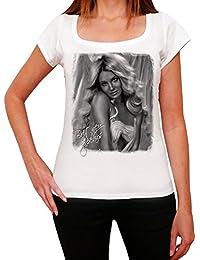 Britney Spears : T-shirt Femme célébrité,Blanc, t shirt femme,cadeau