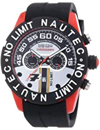 Nautec No Limit Herren-Armbanduhr XL Zero-Yon 2 Chronograph Quarz Kautschuk ZY2-7 QZ/RBPCBKBK-RD