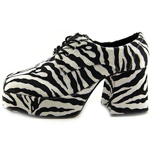 Pleaser Jazz-02, Herren Oxford Schnürhalbschuhe Zebra