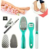 8 In 1 Pedicure Kit Professional Foot File Rasp Set And Callus Shaver Remover For Hard Skin Remover Foot Care...