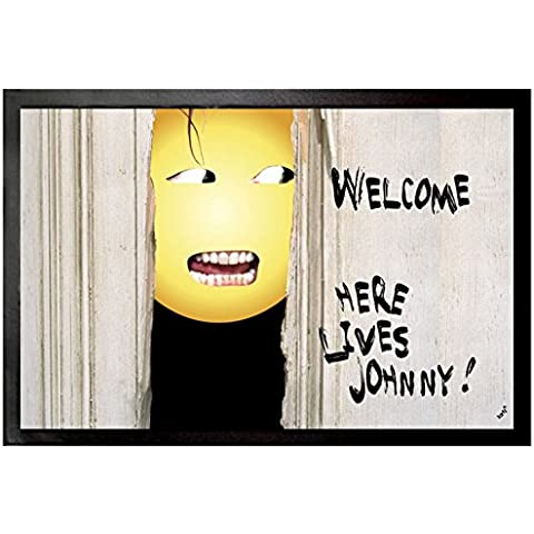 Emoticon - Emoji Shining, Welcome, Here Lives Johnny Zerbino (60 x 40cm)