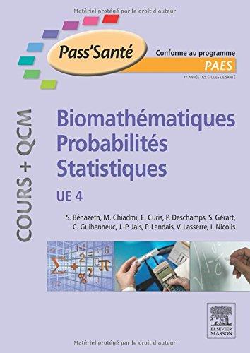 Biomathmatiques - Probabilits - Statistiques - (Cours + QCM): UE 4