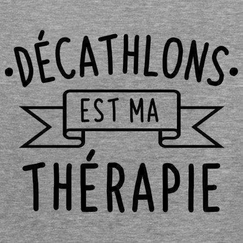 décathlons est ma thérapie - Femme T-Shirt - 14 couleur Gris