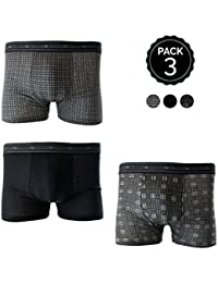 Set Boxers MARGINAL Oscuros - 65% poliéster 35% algodón