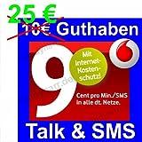 Vodafone D2 CallYa Talk & SMS Prepaid Handy SIM Karte mit 25 Euro Guthaben