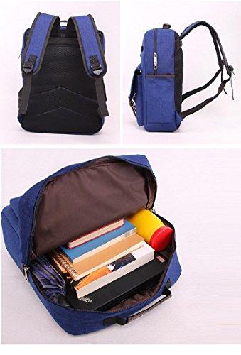 Backpack 20L-35L Tela Zaino per Scuola Viaggio Lavoro , khaki black