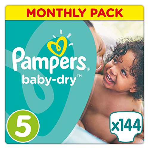 Baby-Dry Nappies Size 5 Junior (11-25 kg) - Value pack of 144 nappies