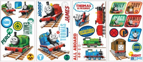 Thomas the Tank Engine Wall Decals by Wallhogs (Engine Tank Decals The Thomas)