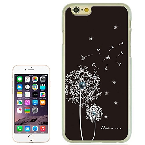 Für IPhone 6 / 6S Dandelion Pattern Diamond-verkrustet Hard Case DEXING ( Color : Black ) Black