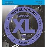 D'Addario Cordes en nickel pour basse Piccolo D'Addario EXL280, 20-52, cordes longues
