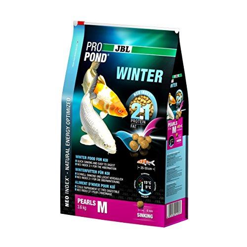 JBL Nourriture Hiver pour Koïs, Granules Alimentaires Submersibles, Nourriture de saison, ProPond Winter, Taille: M, 3,6 kg