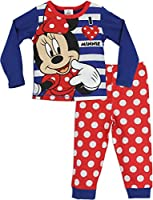 Minnie Mouse Girls Disney Minnie Mouse Pyjamas Ages 18 Months to 10 Years