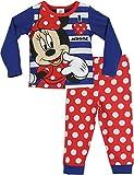 Minnie Mouse - Pigiama a maniche lunghe per ragazze - Disney Minnie Mouse - 2 - 3 Anni