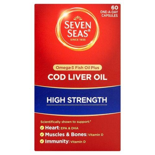 Cod Liver Oil High Strength 60 + 20caps Extra Free