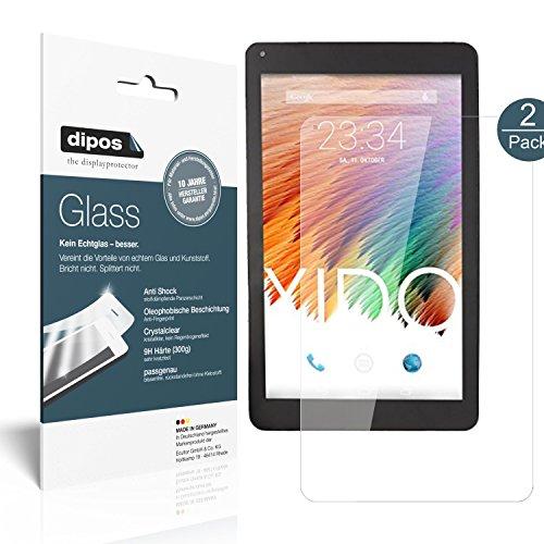 XIDO Tablet X111 Schutzfolie - 2x dipos Glass Panzerfolie 9H Folie Kunststoffglas