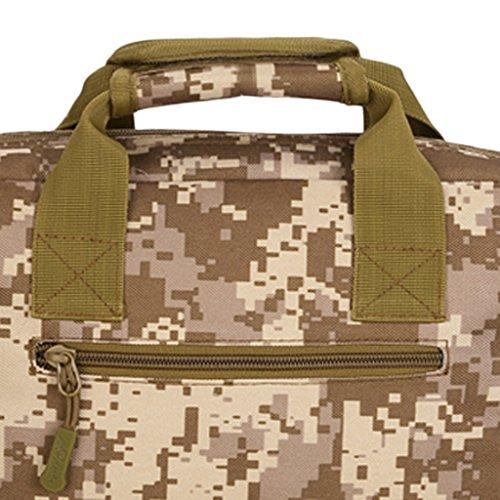 MagiDeal Uomo Borsa Messenger Militare Tattico Spalla Sacchetto per Trekking, Lavoro, PC Portatili in Nylon - Cachi Deserto digitale