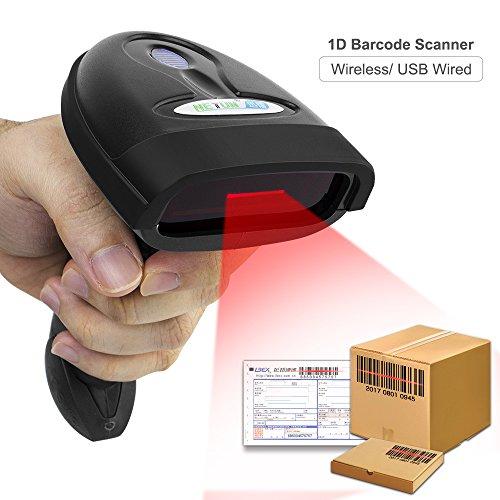 9350f1939c003 NETUM Lector Codigo Barras Escáner de Códigos Inalámbrico 2.4GHz Wireless  Barcode Scanner USB Soporte Win7
