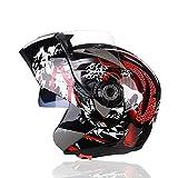 Sanqing Casque de Moto, Casque intégral modulable Flip up Dual Shield...