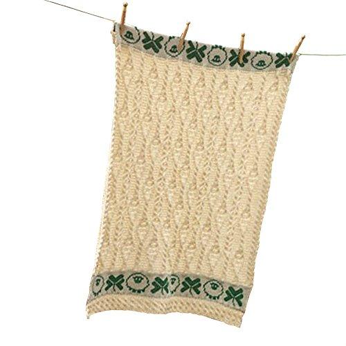 Carraig Donn aus 100% Merinowolle Irish Babydecke mit Schafen und Kleeblatt-Entwurf (Irland-flag Sweatshirt)