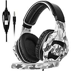 [SADES 2017 Multi-Plataforma Nueva Xbox one Gaming Headset de Juego PS4], SA810 Gaming Auriculares de juego de auriculares para Xbox one nuevo / PS4 / PC / Laptop / Mac / iPad / iPod (negro y camuflaje)