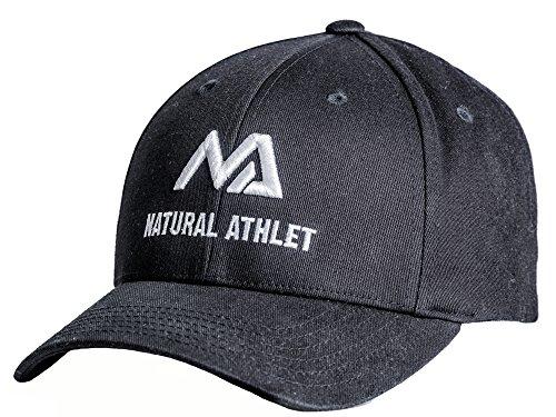 Natural Athlet Herren Basecap - Snapback Cap in Schwarz - Männer Freizeit Kappe Verstellbar für Fitness, Sport, Gym & Training