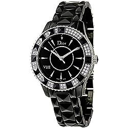 Christian Dior Dior VIII CD1231E1C001cerámica y diamantes reloj de cuarzo
