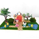 DUCKTOYS Bambini Giocare Tenda con Unico Stampato Ragazzo Ragazze Castello Playhouse Gioco per Uso Interno/Esterno Pieghevole