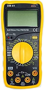 HTC Instrument DM-81 3½ Digital Multimeter Capacitance Diode Transistor and Live Tester