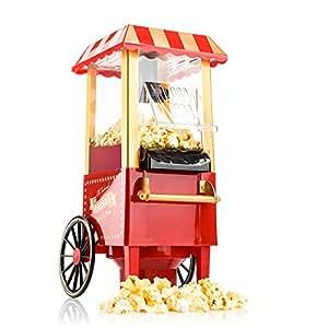 Gadgy macchina per popcorn, macchina per popcorn retro, aria calda senza grasso, senza olio