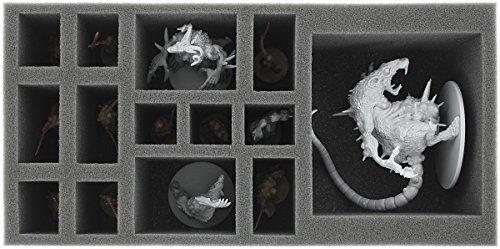 AU085ZC20 85 mm Schaumstoffeinlage für Zombicide Black Plague Abominarat und Abominalpha Kickstarter exclusives