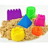 MK Magic Moving Kinetic Universe Moulds Kids Amazing Space Active Magic Clay Sand Dough Tub Box With Tools Toys 500 Gram Assorted Color