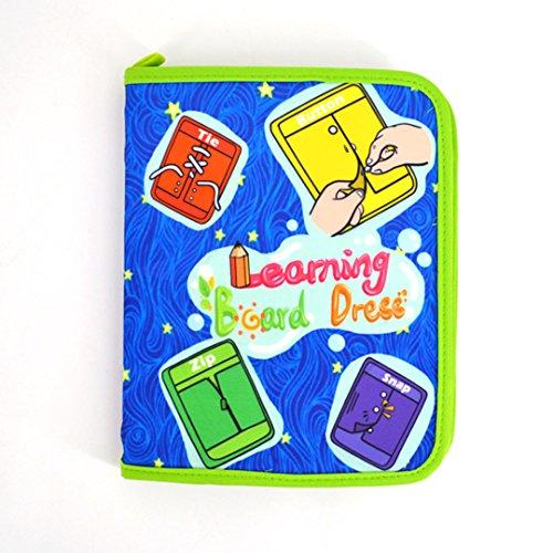 Kleinkinder Early Learning Basic Life Fähigkeiten lernen zu, Kleid Board–Reißverschluss, Snap, Knopf, Schnalle, Spitze & Tie von millya (Schnalle Spitze)