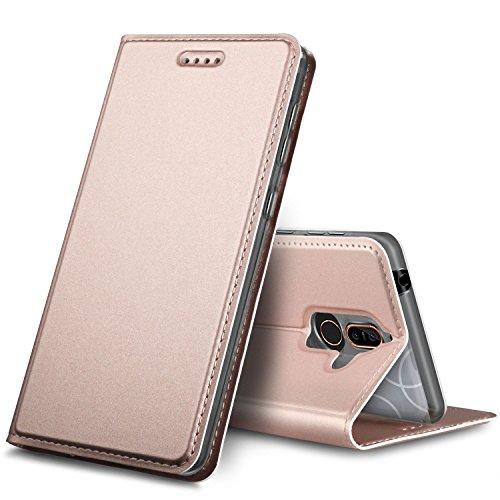 Nokia 7 Plus Hülle, GeeMai Premium Flip Case Tasche Cover Hüllen mit Magnetverschluss [Standfunktion] Schutzhülle Handyhülle für Nokia 7 Plus Smartphone, Rosegold