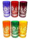 6 Edle Römer Trink Gläser- Kristall Gläser - geschliffen