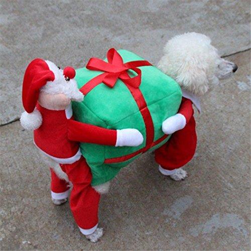 Imagen de ropa para perros, internet perro mascota gato regalo de santa disfraz ropa de lujo para cachorros chaqueta de abrigo de navidad dressup multicolor, m  alternativa