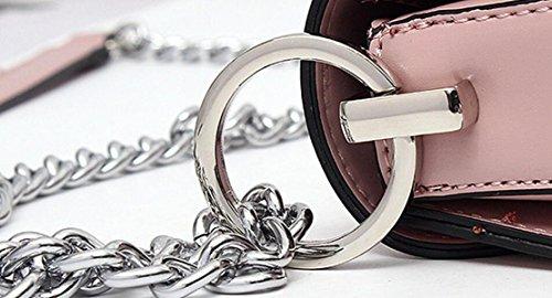 Frauen Schultertasche Schultertasche Kreuz-Paket Kette Schloss Tasche Einfache Wilde Mode Freizeit Beige