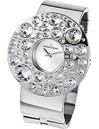 Jacques Lemans Damen-Armbanduhr XL Flora Analog Quarz Edelstahl 1-1733D