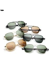 Izusa (TM) hoch Qualität AO PILOT Glas Linse Sonnenbrille US Air Force Herren Marke fahren Sonnenbrille Sonne Brille Brillen de Sol