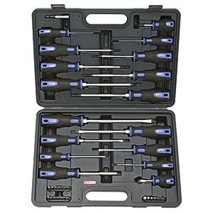 51v3%2B37nBZL. SS300  - KS Tools 159.0100 Pack de 39 Piezas con Destornilladores y bits, 39pcs