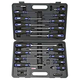 KS Tools 159.0100 Pack de 39 Piezas con Destornilladores y bits, 39pcs