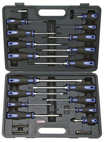KS Tools 159.0100 ERGOTORQUEplus Schraubendreher- und Bit-Satz, 39-tlg.