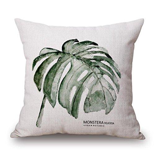 Longless Verdure fraîche série minimaliste en coton d'oreiller coussin oreiller canapé Bureau Accueil tissus