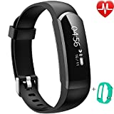 Activity Tracker IP67,Willful Orologio Fitness Cardiofrequenzimetro da polso Bluetooth Braccialetto Fitness Smart Watch Uomo Donna Impermeabile per Android IOS Pedometro Running Cronometro Nero Verde