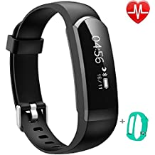 Activity Tracker IP67,Willful® Orologio Fitness Cardiofrequenzimetro da polso Bluetooth Braccialetto Fitness Smart Watch Uomo Donna Impermeabile per Android IOS Pedometro Running Cronometro Nero Verde
