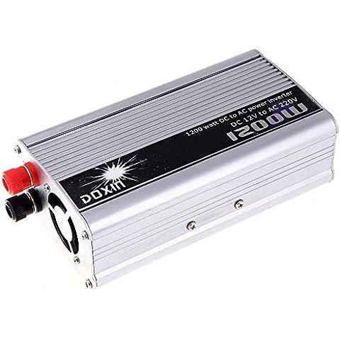 Anself 1200W WATT DC 12V a AC 220V Inversor de corriente portable de coches Car Inverter Cargador Convertidor