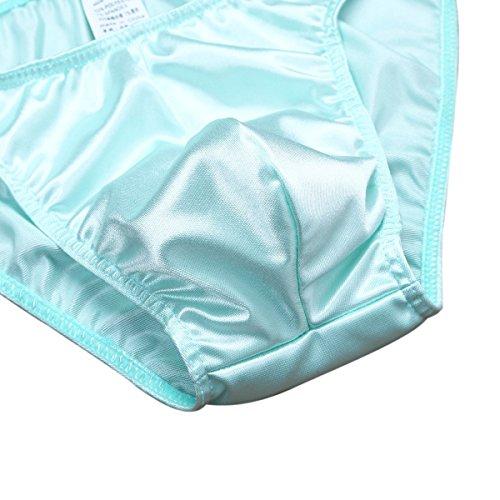 iiniim Uomo Slip Bikini Mutande da Uomo Biancheria Intima con Sacchetto del Rigonfiamento Confortevole e Traspirante Verde