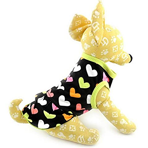 ranphy Kleiner Hund Katze Sweet Kleid Puppy Rock Chihuahua Kleidung für Mädchen Summer Love Herzen Pet Kleid, (Einfache Katzen-kostüm Für Arbeit)