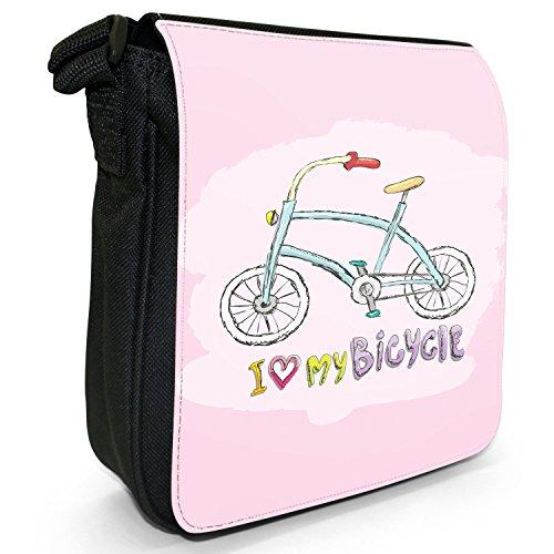 Fancy A Snuggle, Borsa a tracolla donna Ich liebe mein blaues Fahrrad